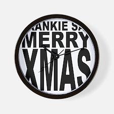 Frankie Say Merry Xmas Wall Clock