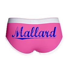 Mallard, Blue, Aged Women's Boy Brief