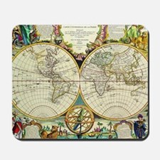 Vintage World Map Mousepad