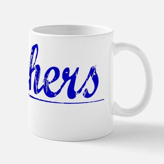 Mathers, Blue, Aged Mug