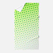 Lime Green Dots Beach Towel