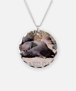 Hard Day Hippos Necklace