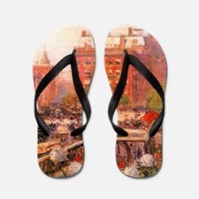 Childe Hassam Broadway and Fifth Avenue Flip Flops