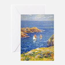 Claude Monet Calm Sea Greeting Card