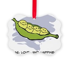 Peas, Love and Happiness Ornament
