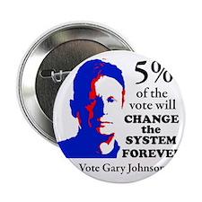 "5 percent Sticker 2.25"" Button"