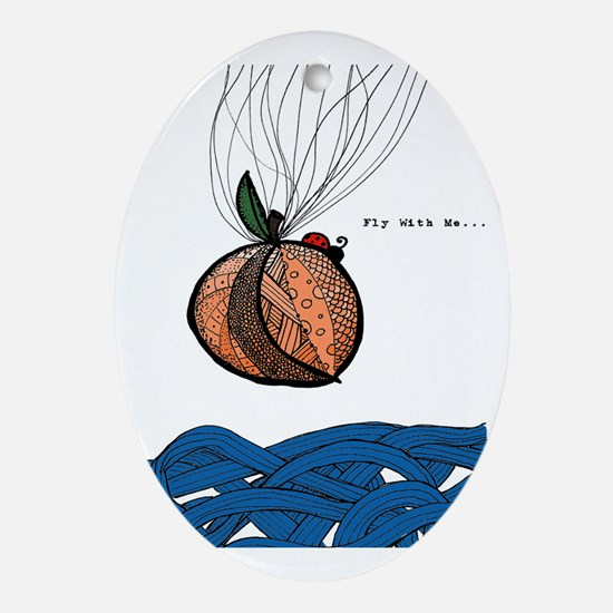Fly With Me Oval Ornament