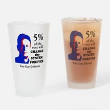 5 percent Sticker Drinking Glass