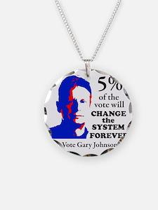 5 percent Sticker Necklace