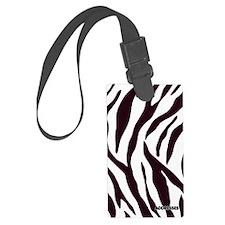 Zebra Address Book Luggage Tag