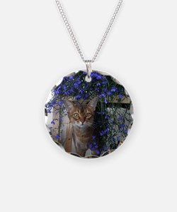 Flower Cat Necklace