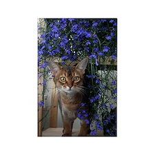 Flower Cat Rectangle Magnet