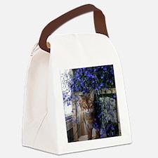 Flower Cat Canvas Lunch Bag