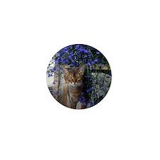 Flower Cat Mini Button