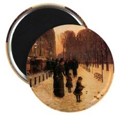 Childe Hassam Boston In Everyday Twilight Magnet