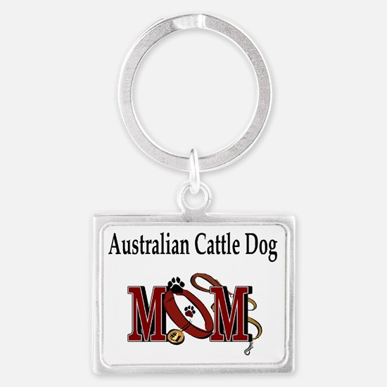 Australian Cattle Dog Mom Landscape Keychain