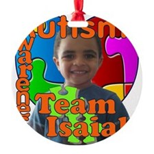 Autism Awareness Team Isaiah Ornament
