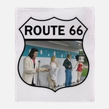 Route 66 - Polk-a-Dot Drive In Throw Blanket