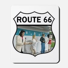 Route 66 - Polk-a-Dot Drive In Mousepad