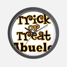 Trick or Treat Abuelo Wall Clock
