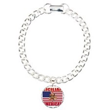 sicilian american a Charm Bracelet, One Charm