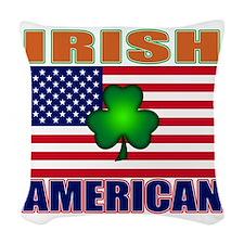 irish American pride Woven Throw Pillow