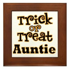 Trick or Treat Auntie Framed Tile