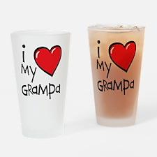 I Love My Grampa Drinking Glass