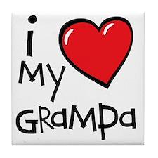 I Love My Grampa Tile Coaster