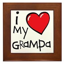 I Love My Grampa Framed Tile