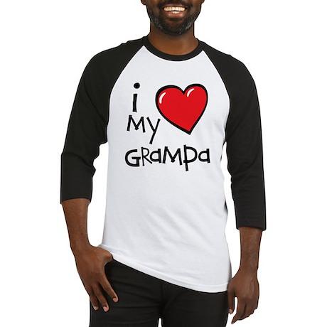 I Love My Grampa Baseball Jersey