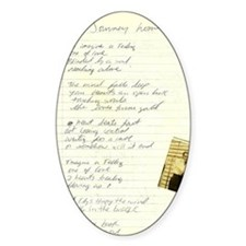 vintage poem by Tia Knight journey  Decal