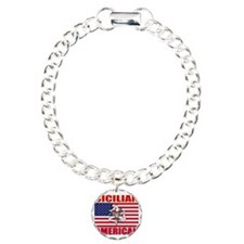 Sicilian American Charm Bracelet, One Charm