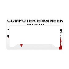 Computer Engineer Zombie License Plate Holder