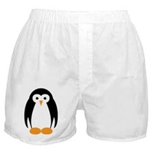 Cute Penguin Illustration Boxer Shorts