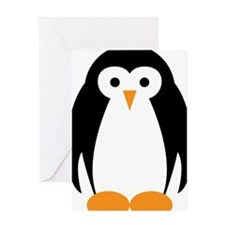 Cute Penguin Illustration Greeting Cards