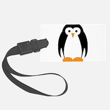 Cute Penguin Illustration Luggage Tag