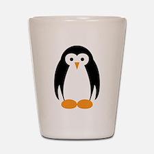 Cute Penguin Illustration Shot Glass