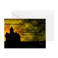 Incomprehensible - scattered Greeting Card