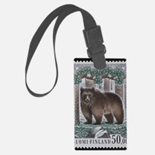 Vintage Postage Stamp - The Bear Luggage Tag