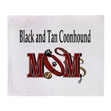 Black and Tan Coonhound Mom Throw Blanket