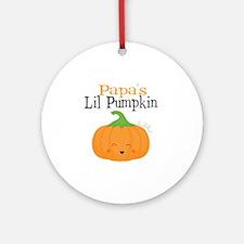 Papas Little Pumpkin Round Ornament