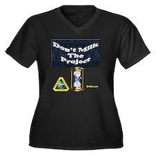 Dont milk th Women's Plus Size Dark V-Neck T-Shirt