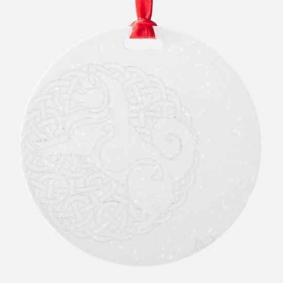 Eyjahunda Logo Black Background Ornament