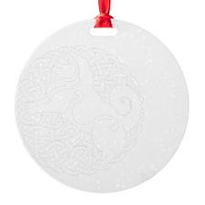 Eyjahunda Logo Black Background Round Ornament