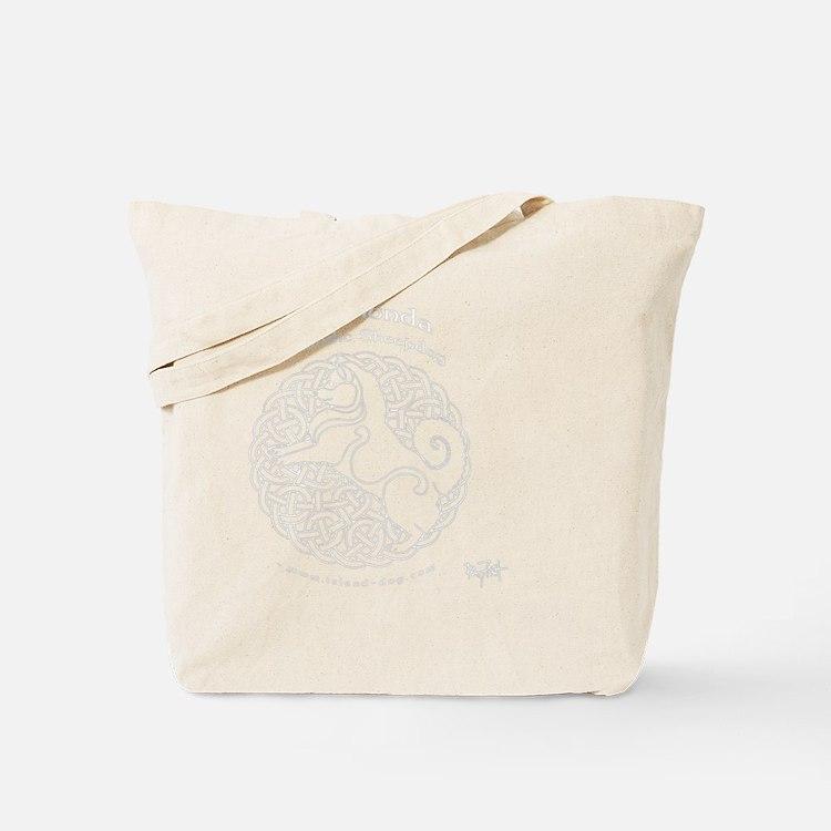 Eyjahunda Logo Black Background Tote Bag