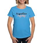 Legalize Everything Women's Aqua Blue T-Shirt