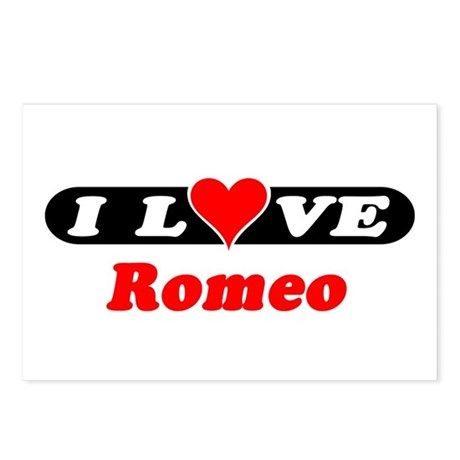 I Love Romeo Postcards (Package of 8)