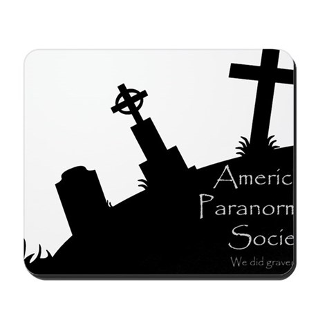 We Dig the Corner Cemetery Mousepad