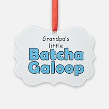 Grandpas Batcha Galoop Blue Ornament
